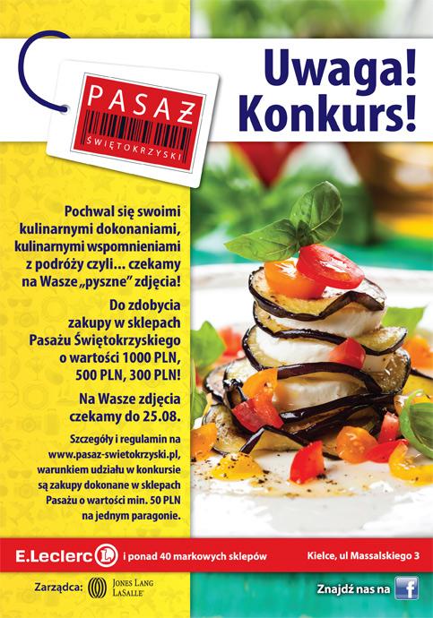 Wakacyjny konkurs kulinarny w Pasażu Świętokrzyskim!