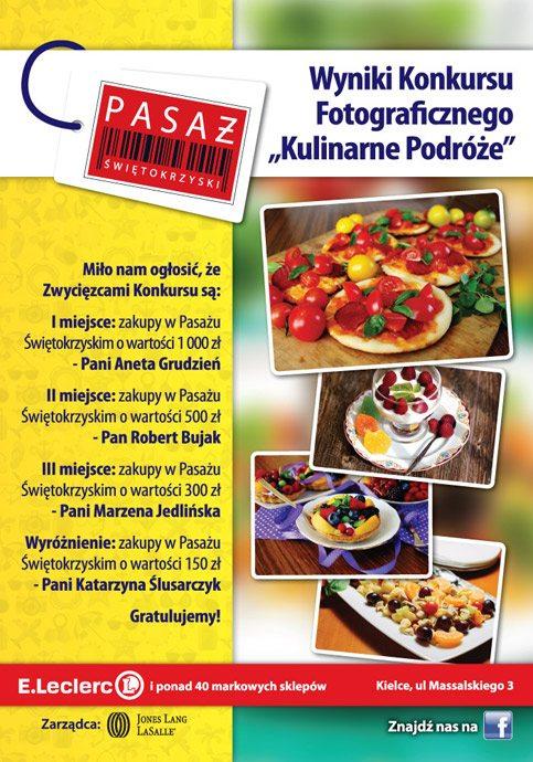 """Wyniki Konkursu Fotograficznego """"Kulinarne Podróże"""""""