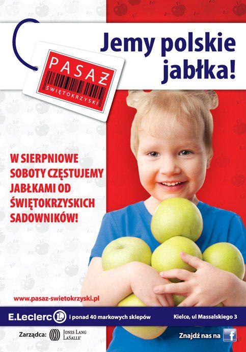 Akcja rozdawania jabłek wPasażu Świętokrzyskim!