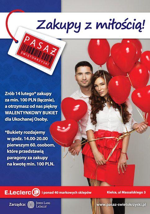 """14 lutego zrób """"Zakupy zMiłością"""" – Walentynki wPasażu Świętokrzyskim!"""